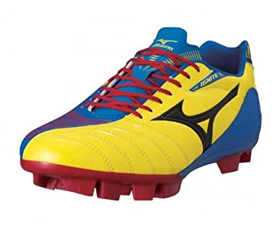 Ignitus Club 3 FG Football Boots Primary Yellow/Blue/Red - size 13