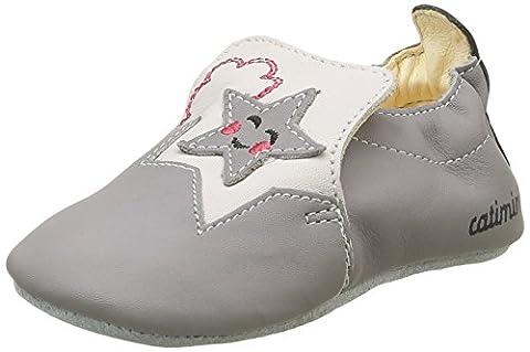 Catimini Heron, Chaussures Quatre Pattes (1-10 Mois) Bébé Garçon, Gris (11 Vte Gris/Noir Dpf/Souple), 21 EU