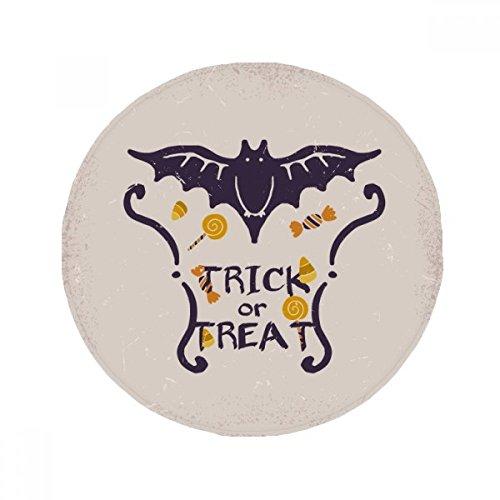 ling Form Cartoon-Muster Halloween Anti-Rutsch Boden Pet Matte rund Badezimmer Wohnzimmer Küche Tür 80cm Geschenk ()
