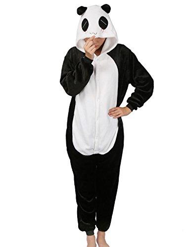 Adulte Kigurumi Unisexe Anime Animal Costume Cosplay Combinaison Pyjama ou Déguisement - Panda - Taille S