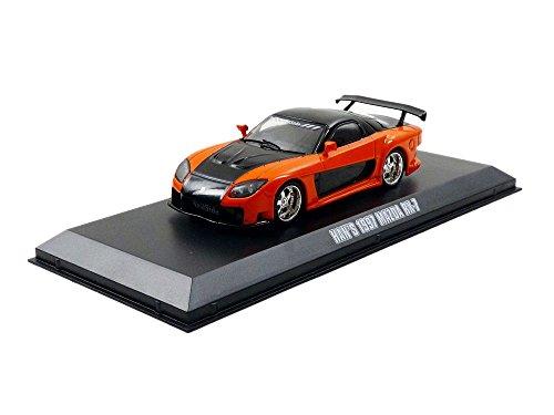 Greenlight Collectibles-86212-Fahrzeug Miniatur-Mazda RX7-Fast and Furious Tokyo Drift-1997, orange/schwarz, Maßstab 1/43 (Drift-autos Tokyo)