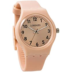 Lorenzo Men's | Classic Peach Silicone Band Watch | LZ01