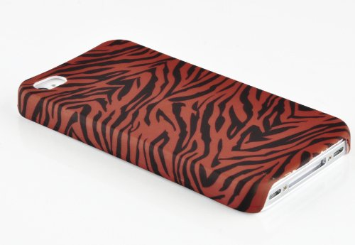 Cadorabo - Hard Cover für >            Apple iPhone 5 / 5S / SE            < - Case Cover Schutz-Hülle Bumper im Design: FOOTBALL BROWN TIGER