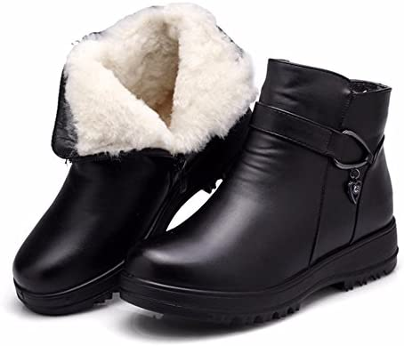 HXVU56546 Inverno Scarpe Nuove Scarpe Di Cotone Cotone Cotone Uomo Stivali In Pelle Calda Spessa Spessa Stivali Stivali Di Cotone 37 Nero B078MR8PXB Parent | Prestazione eccellente  | Del Nuovo Di Arrivo  546bb4