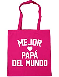 HippoWarehouse MEJOR PAPÁ DEL MUNDO Bolso de Playa Bolsa Compra Con Asas para gimnasio 42cm x 38cm 10 litros capacidad