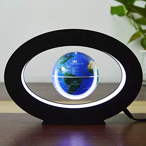 XAJGW Elektronisches schwebendes Kugel-Neuheit-elektronisches rundes Schwebungs-Tellurion mit LED-Licht-Hauptbüro-Anzeige (Farbe : Blau)