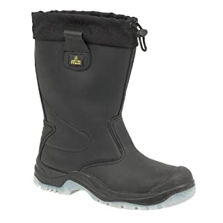 Amblers Steel FS209 Safety Pull On / Mens Boots / Riggers Safety (8 UK) (Black)