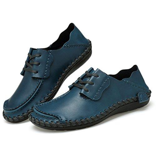 Baixos Sapatilhas Sapatos Rasos De Sitaile Couro Mocassim Homens Lazer Chinelo Azuis Sapatos Sapatos Ir SxwPqXf7x