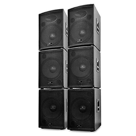 Auna DJ PA Aktiv Boxen SetArtemis6 Teile 10000W
