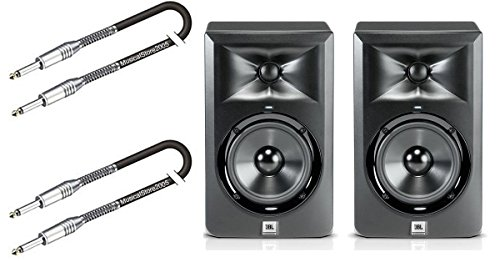 Produktbild JBL Set Paar Monitor-Studio LSR 305 / Kabel 3 Mt gratis Bundle by musicalstore2005