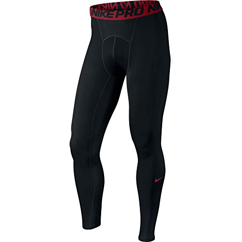 NIKE Herren Hose Cool Compression Tights Black/Gym Red/Gym Red