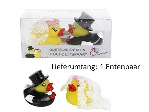 Enten Hochzeit Quietsche Entchen Hochzeitsgeschenk Geschenk Badeente Enten KBV