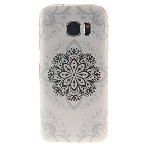 Aeeque iPhone 5S/SE/6/6S (Plus), Samsung galassia S3/S4/S5/S6/S6 bordo/S7/S7 bordo/A3/A5/(2016)/J1/J5/G360/G530, Sony Xperia Z3/M4, Huawei P8 Lite copertura dellalloggiamento sacchetto della copertur Datura Blumen