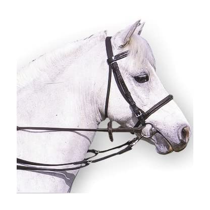 Padded Anti-Grazing Grass Reins With Trigger Clips In Black 1