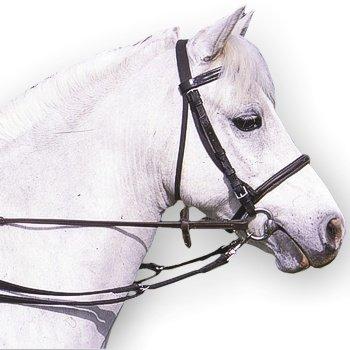 William Hunter Equestrian - Redini con funzione anti-pascolo, con clip, imbottite, colore: marrone