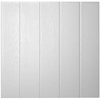 50 x 50 cm DECOSA Deckenplatten ATHEN in Holz Optik 16 Platten = 4 m2 Deckenpaneele in Lichtgrau Decken Paneele aus Styropor