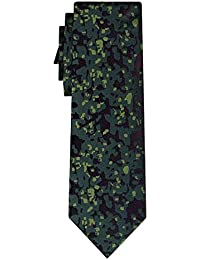 cravate soie camouflage pattern green