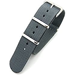 Grey Infantry Military MoD NATO Nylon Fabric GENERIC G10 4 Rings Watch Strap Band Chrome Buckle