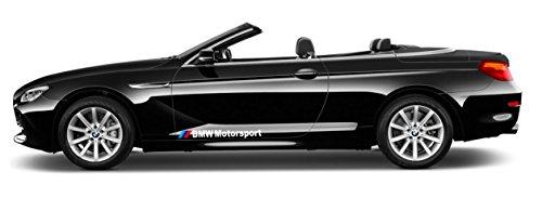 Artstickers4U Seitendekor M Motorsport passt zu BMW Auto Heckscheiben x2 Aufkleber Sticker / Plus Schlüsselringanhänger aus Kokosnuss-Schale / Tuning Hoonigan 1er 2er 3er 5er 6er X1 X2 X3 M2 M3 M5