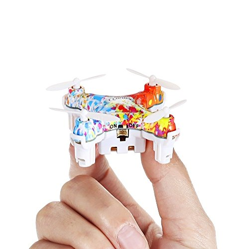 Sale CX-10D 2.4GHz Colourful Mini RC Quadcopter Drone, Pocket Nano Helicopters, Clever Fastened Altitude, 3D Flip, One-Key Take Off / Touchdown, three Flying Modes, Distant Management Drone with LED Mild  Critiques