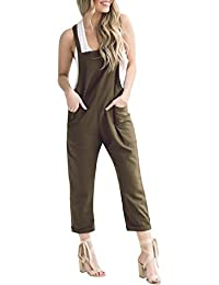 Zarup♥♥♥[Pantalones de yoga], Women Loose Casual Baggy Jumpsuit Strap Bib Pants Trousers Overall Harnes Pants
