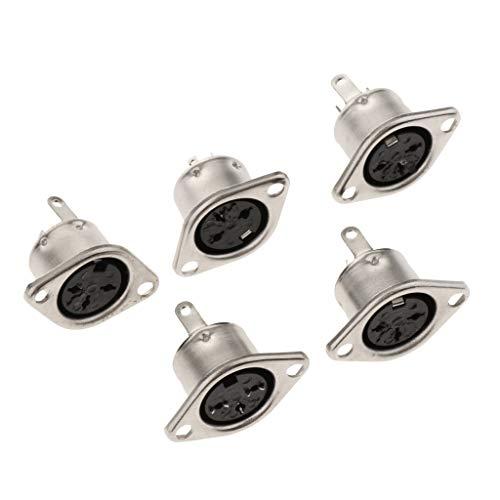 8-pin-weiblich-anschluss (Gazechimp 5pcs DIN Stecker Buchse 3-polig 4-polig 5-polig 6-polig 7-polig 8-polig weiblich - 3 Pin)