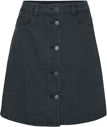 Noisy may Damen NMSUNNY Short DNM Skater Skirt Blck NOOS Rock, Schwarz (Black Black), 38 (Herstellergröße: M)