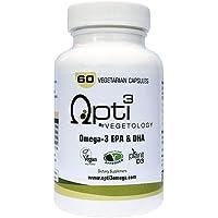 Opti3 Omega-3 EPA & DHA- Vegan Omega 3 Supplement - 60 Vegicaps
