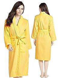 Unisex Luxury 100% Cotton Towelling Bath Robe Dressing Gown Wrap  Nightwear 631d21b5d