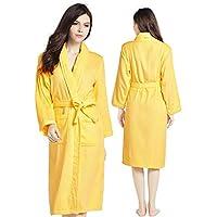4da1321464 Unisex Luxury 100% Cotton Towelling Bath Robe Dressing Gown Wrap  Nightwear