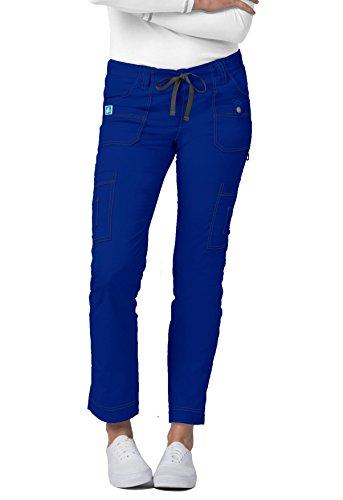 Fit Low-Rise 11-Pocket Slim Cargo Pants - 3108 -Royal Blue - L ()