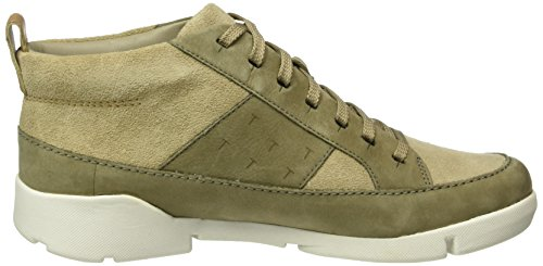 Clarks - Tri Amber, Sneakers alte Donna Beige (Sand Combi)