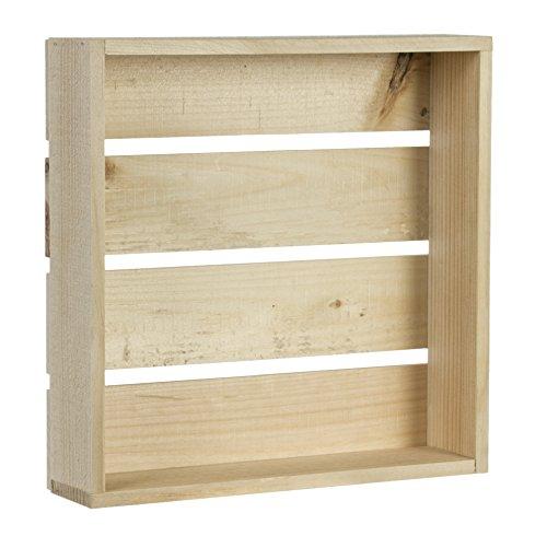 Rustikale Schattenbox, rustikal, 28 x 28 cm, Walnuss (Small Shadow Box)