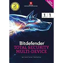 BitDefender Total Security Latest Version (Windows / Mac / Android / iOS) - 3 User, 1 Year (Activation Key Card)
