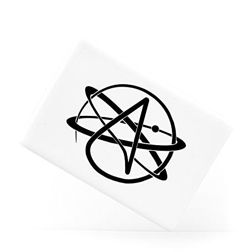 Atheist Symbol Atomic Whirl Atheism Rutherford Atom with Circle Keramik-Kühlschrankmagnet