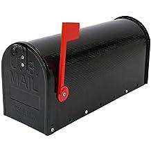 Buzón US Mail de aluminio para correo postal americano negro