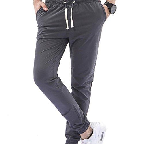 Paolian Pantalons de Sport pour Hommes, Cordons de Serrage Confortables, Bande élastique, Pantalons décontractés