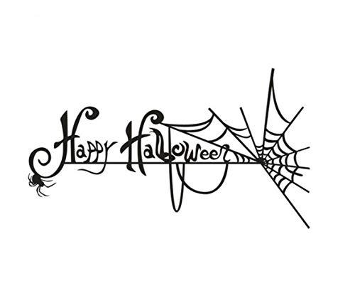 ion Spinne Halloween Kürbis Halloween Cartoon Kinderspielzeug Dekorativen Requisiten Wand Aufkleber Aufkleber Glas Groß ()