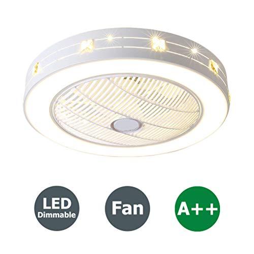 Fan Deckenventilator 96W LED Deckenleuchte mit Fernbedienung Einstellbar Kreative Kinderzimmer Deckenlampe Moderne Pendellampe Leise Deckenventilator Lampe Schlafzimmer Wohnzimmer Beleuchtung, Ø55cm - Ruhiges Licht Bad-fan Mit