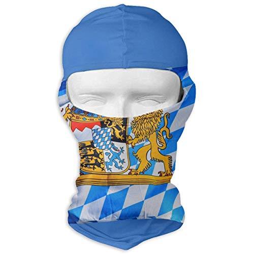 Xdevrbk Bavaria Bavarian Flag Windproof Dust Protection Balaclava Full Face Mask Hood Headcover - Headcover Turban