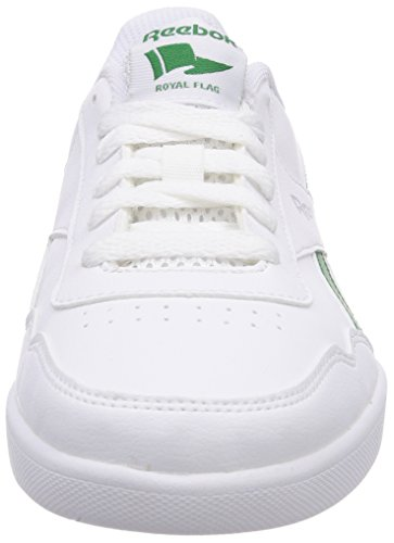 Reebok Royal Effect, Sneaker Mixte Enfant Blanc (white/glen Green/silver Met)