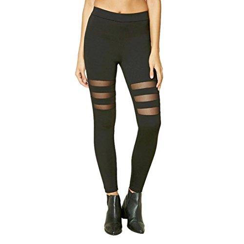 Preisvergleich Produktbild Sannysis Damen Sport Yoga Pants Fitness Leggings Hose (S,  schwarz)