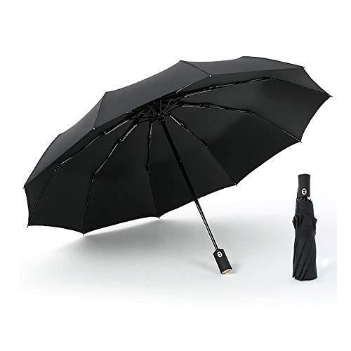 FMIKA One-Touch-automatische Öffnen und Schließen Taschenschirm, super wasserdicht starker Wind große Glasfaser 10 Knochen Herrenschirm Damenschirm sonniges Wetter kombiniert 105cm,D -