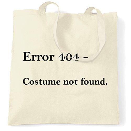 Error 404 Halloween Printed Slogan Zitat Design Premium-Qualität Tragetasche (404 Fehler Kostüm Nicht Gefunden)
