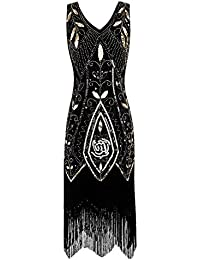 Women 1920s Flapper Dress Gatsby Vintage Plus Size Roaring 20s Dresses Fringed Party Prom