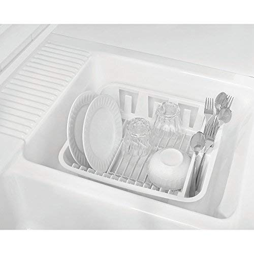 """Rubbermaid Twin Sink Dish Drainer 12-1/2"""" 14""""X 4-1/2"""" White"""