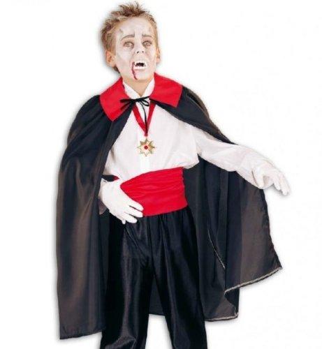 Vampir Dracula Umhang Kinder Kostüm Gr 152-164