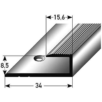 profil de bordure seuil d 39 arr t pour le stratifi parquet 7 15 mm x 21 mm aluminium. Black Bedroom Furniture Sets. Home Design Ideas