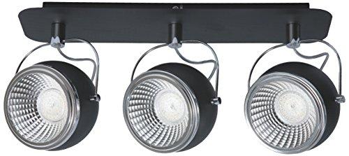 SPOT-LIGHT Deckenleuchte Modell Ball Schienenleuchte 3 Spots inklusive 3 x GU10, 5 W LED, 3000 k, metall, chrom / schwarz 5009384