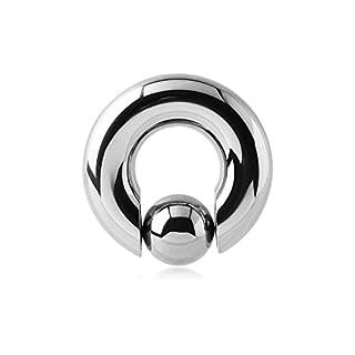 Ball Closure Ring–Steel–Ball bangle/Shaft 6mm, Diameter: 16mm, 8mm